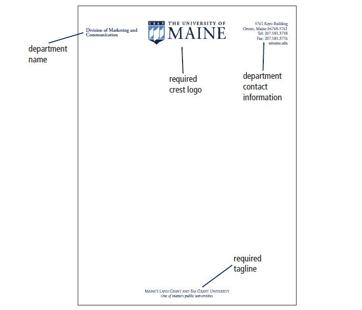 UMaine Letterhead, Envelopes \ Business Cards Printing and - official letterhead