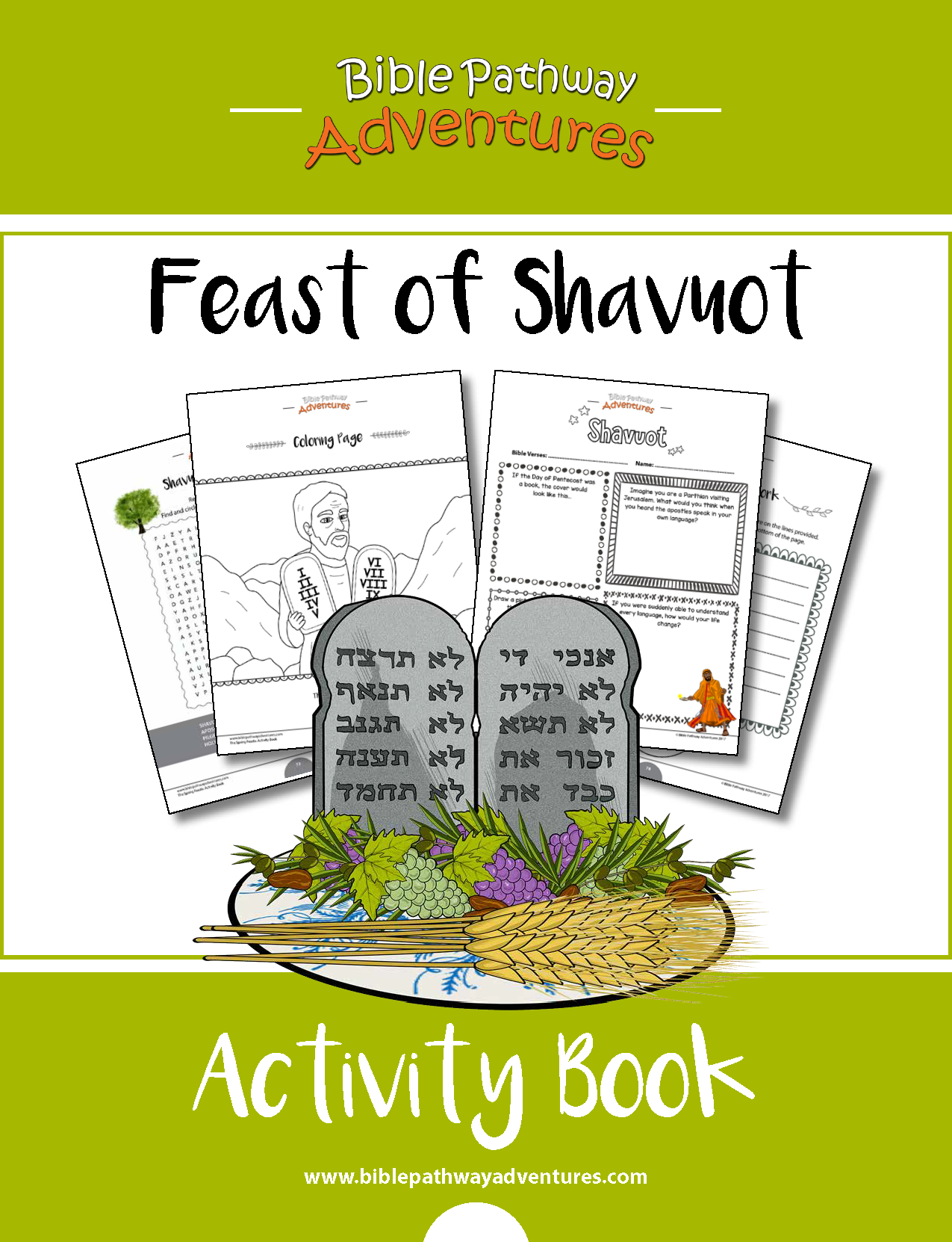 Feast Of Shavuot Pentecost Activity Book