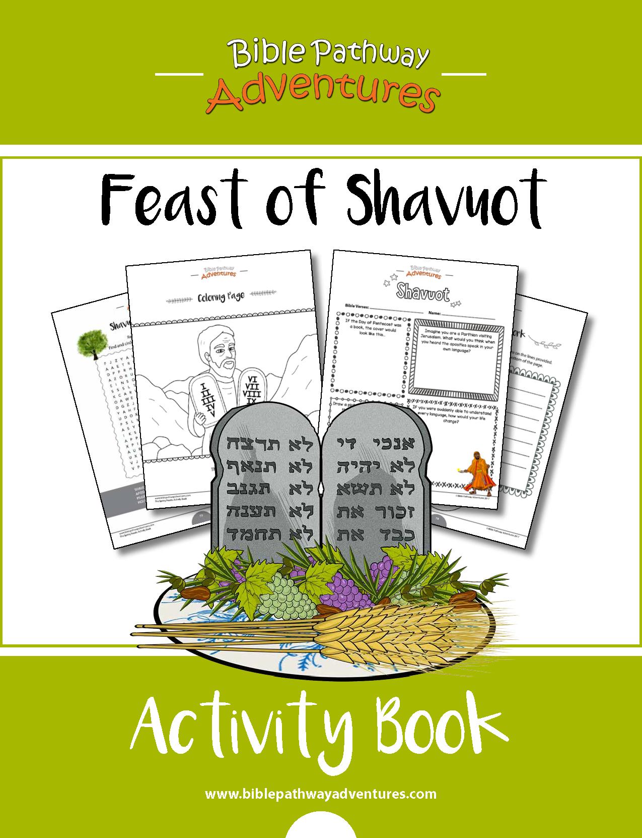 Feast Of Shavuot Pentecost Activity Book