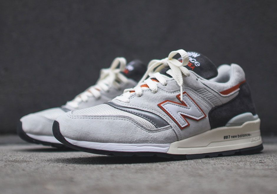 New Balance 997 White Orange Grey | Footshop