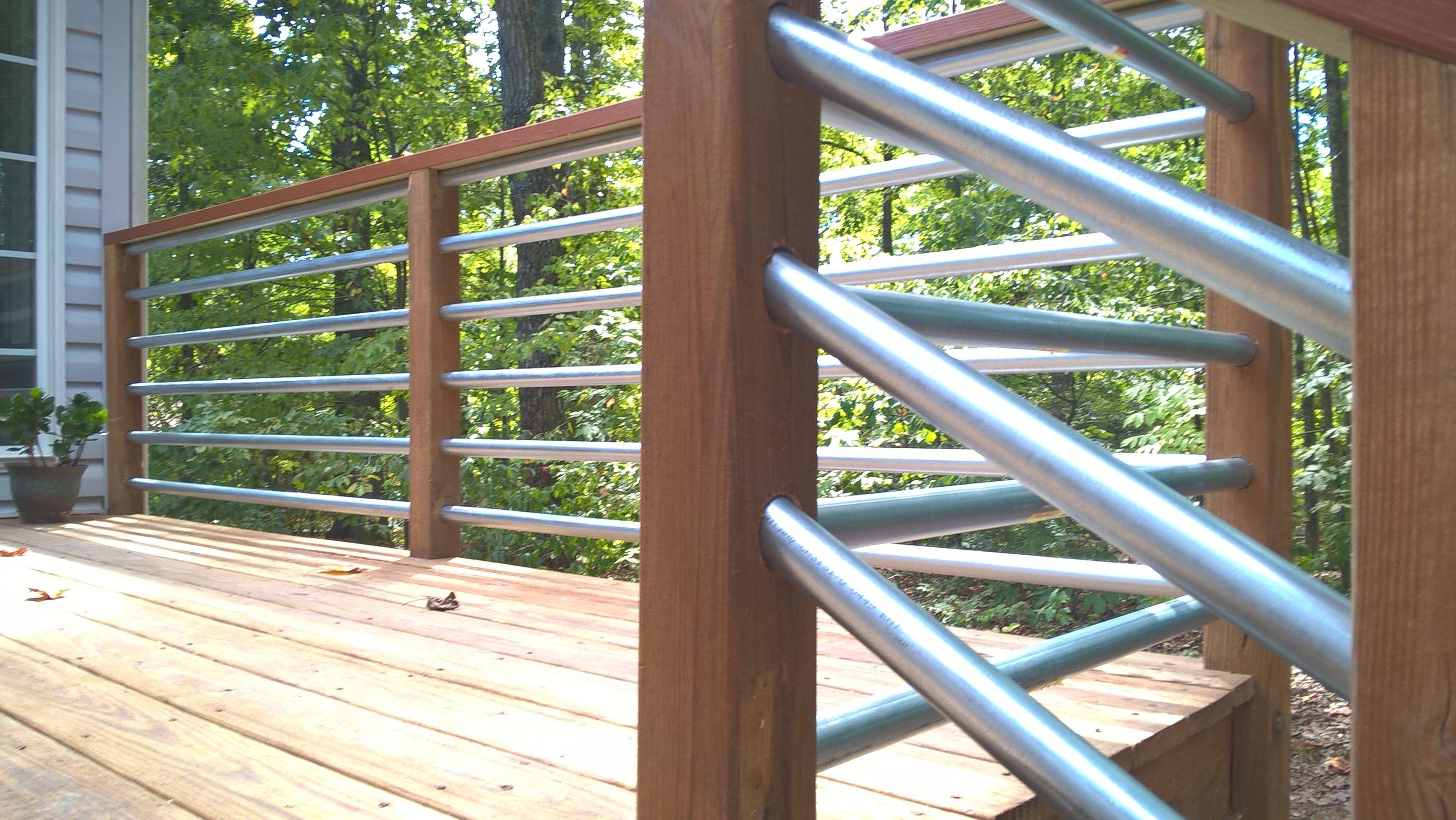 Horizontal Railing Using 1 25 Conduit Deck Makeover