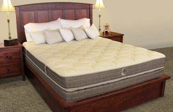 Whitman Natural Two Sided Latex Mattress Corner View Available At The Lot