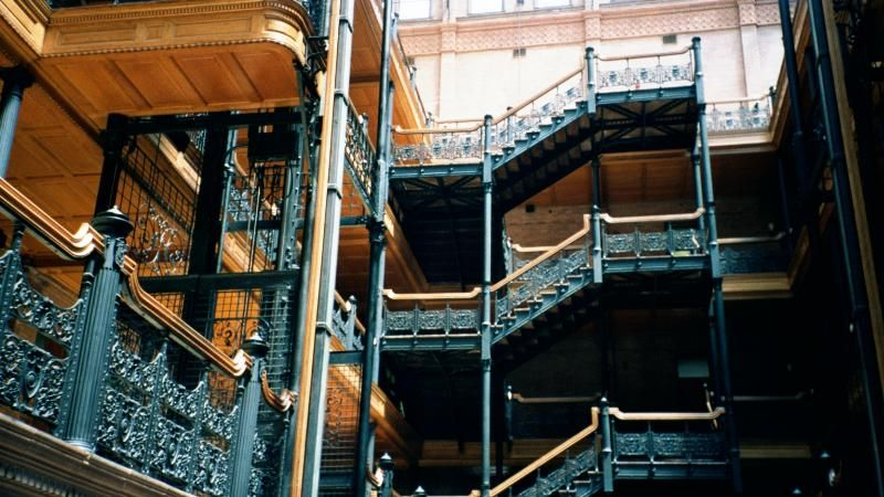 Another view of the Bradbury interior and stairwells.