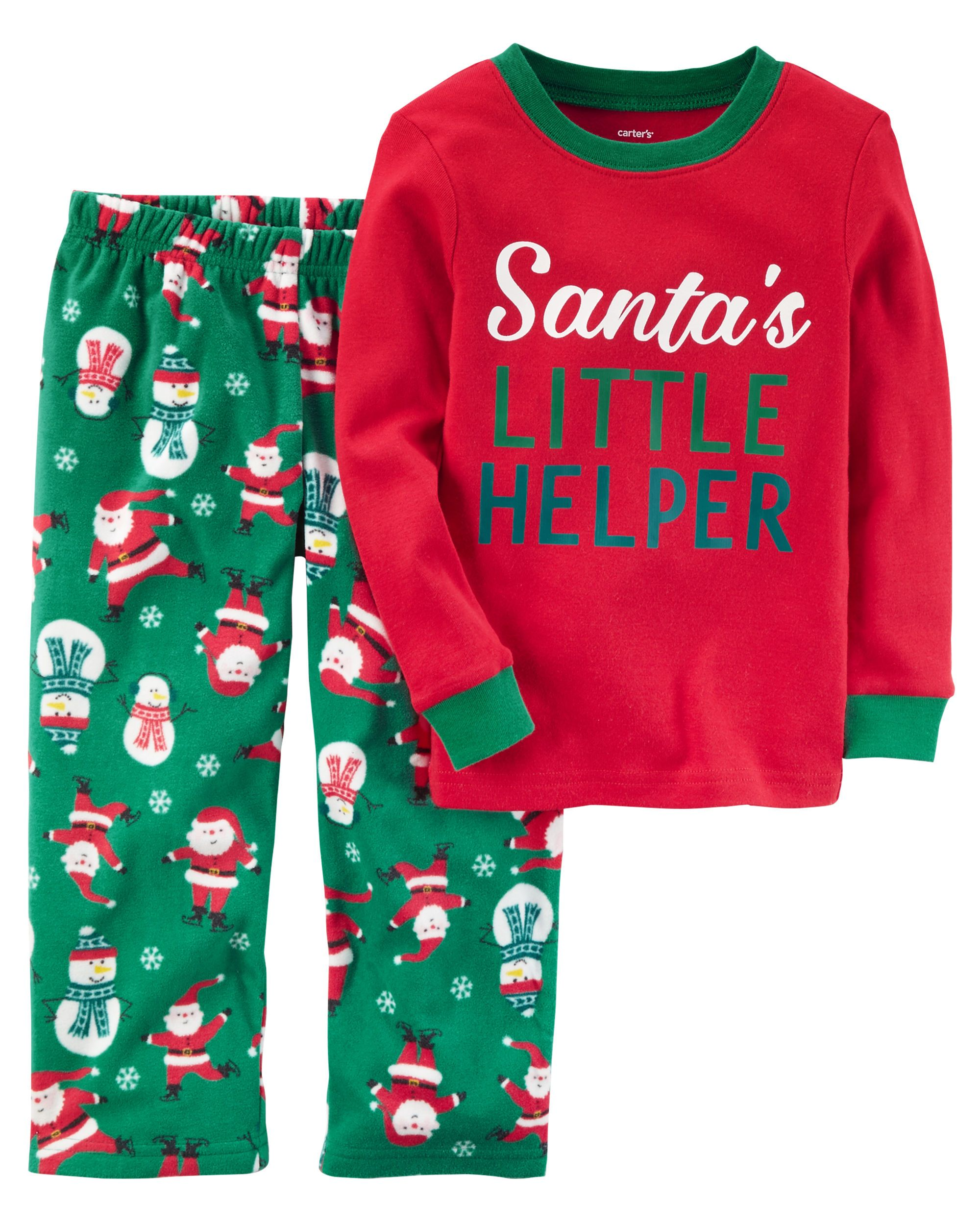 97e0af3934 2-Piece Christmas Cotton   Fleece PJs