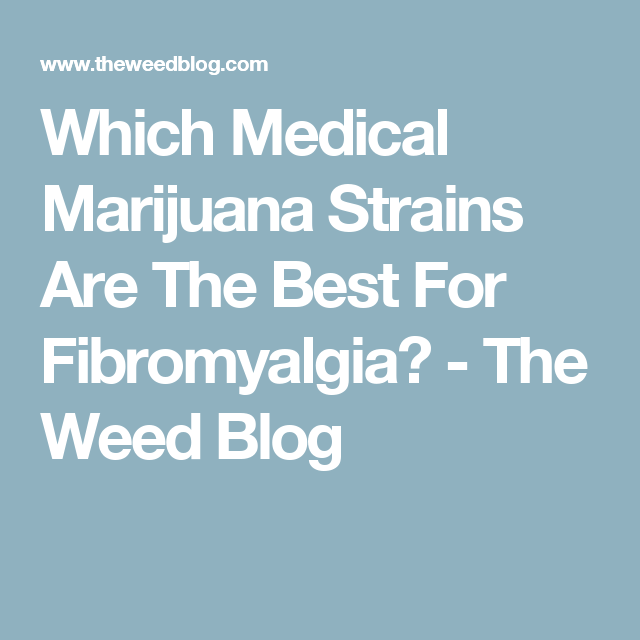 Which Medical Marijuana Strains Are The Best For Fibromyalgia? - The Weed Blog