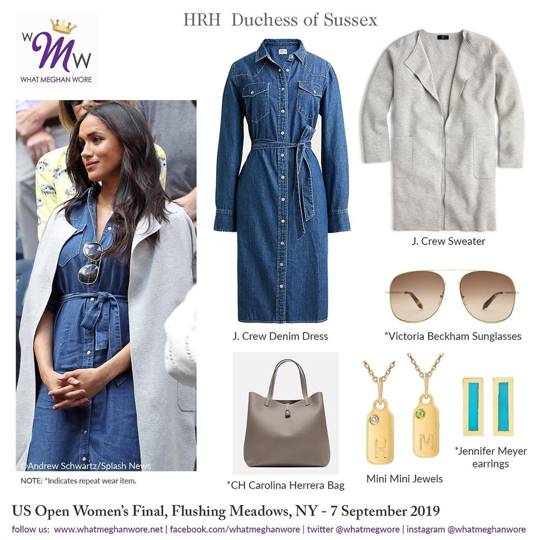 What Meghan Wore On Instagram Meghan S Winning Look For The Usopen Women S Final We You Meghan Markle Outfits Meghan Markle Style Meghan Markle Suits