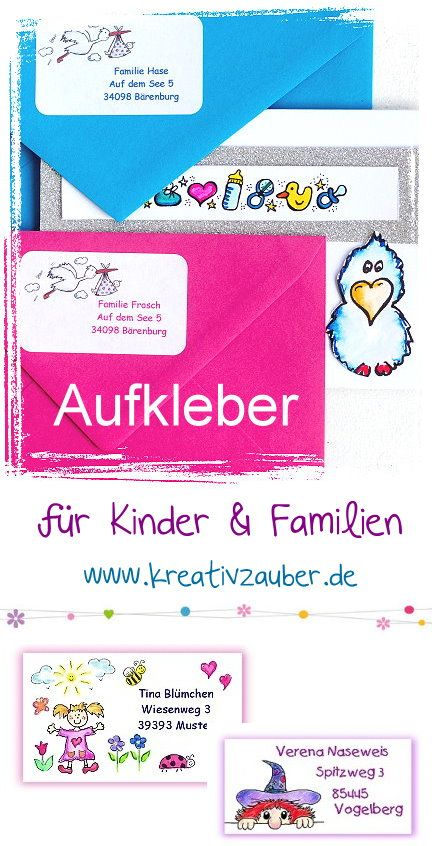aufkleber f r kinder und familien. Black Bedroom Furniture Sets. Home Design Ideas
