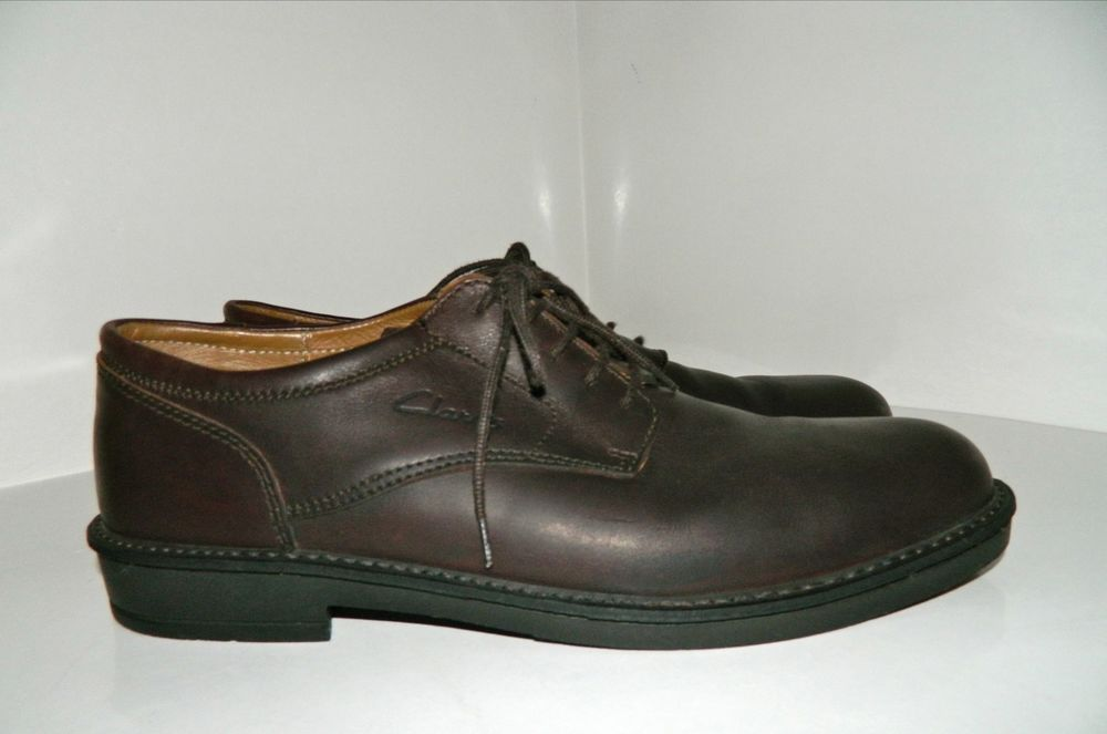 c3c4b46d962f Men s Clarks Dark Chocolate Brown Leather Oxfords Shoes Sz 12 G Made in  England  Clarks  Oxfords
