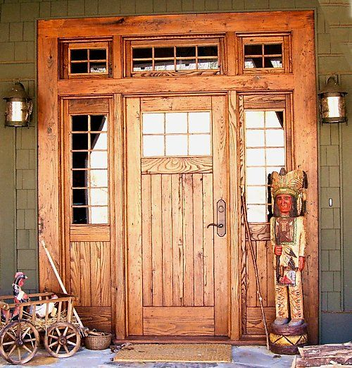 Log Home Exterior Ideas: Log Home Entry Doors