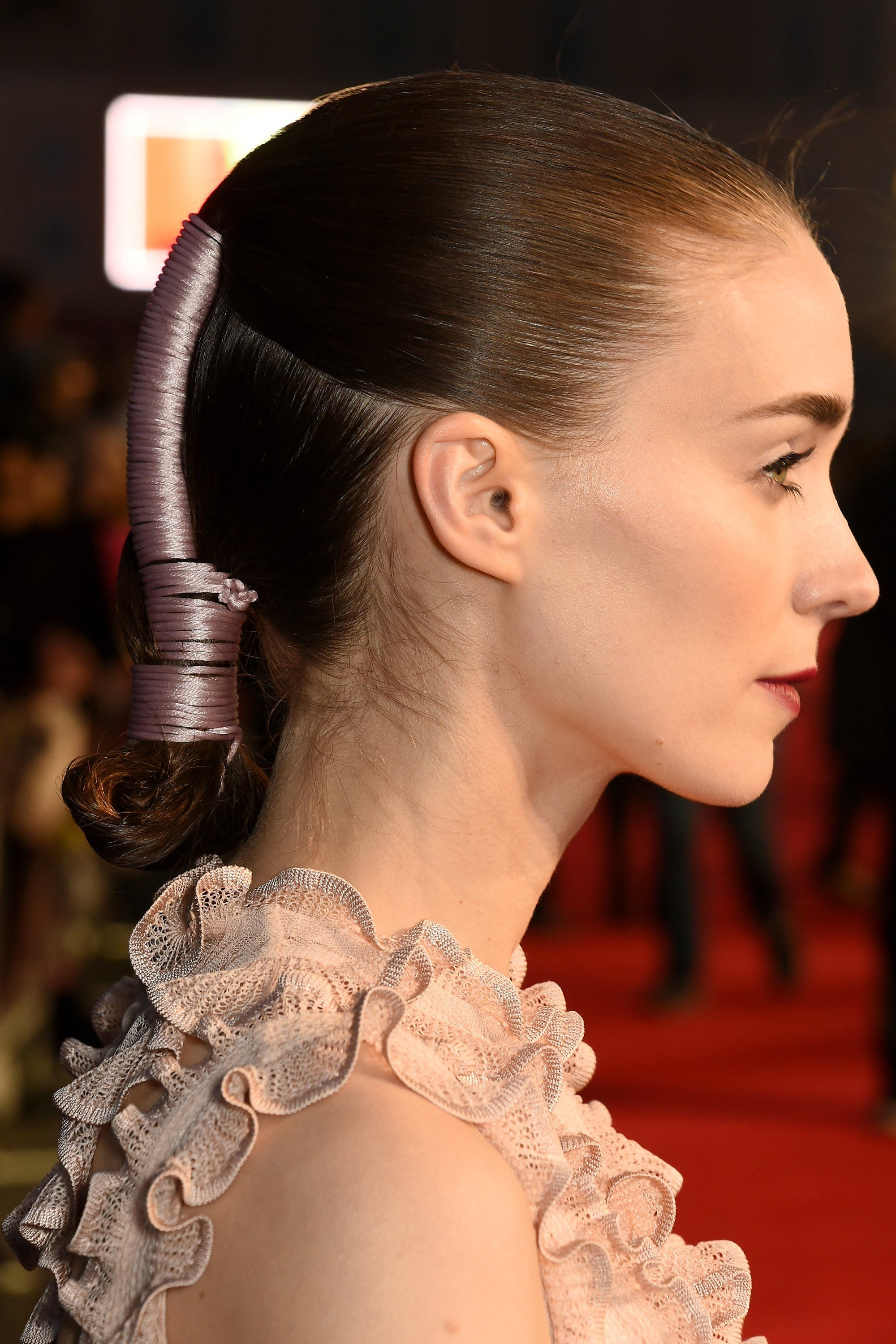 How Rooney Mara Puts a Futuristic Twist on Slick Evening Hair #eveninghair