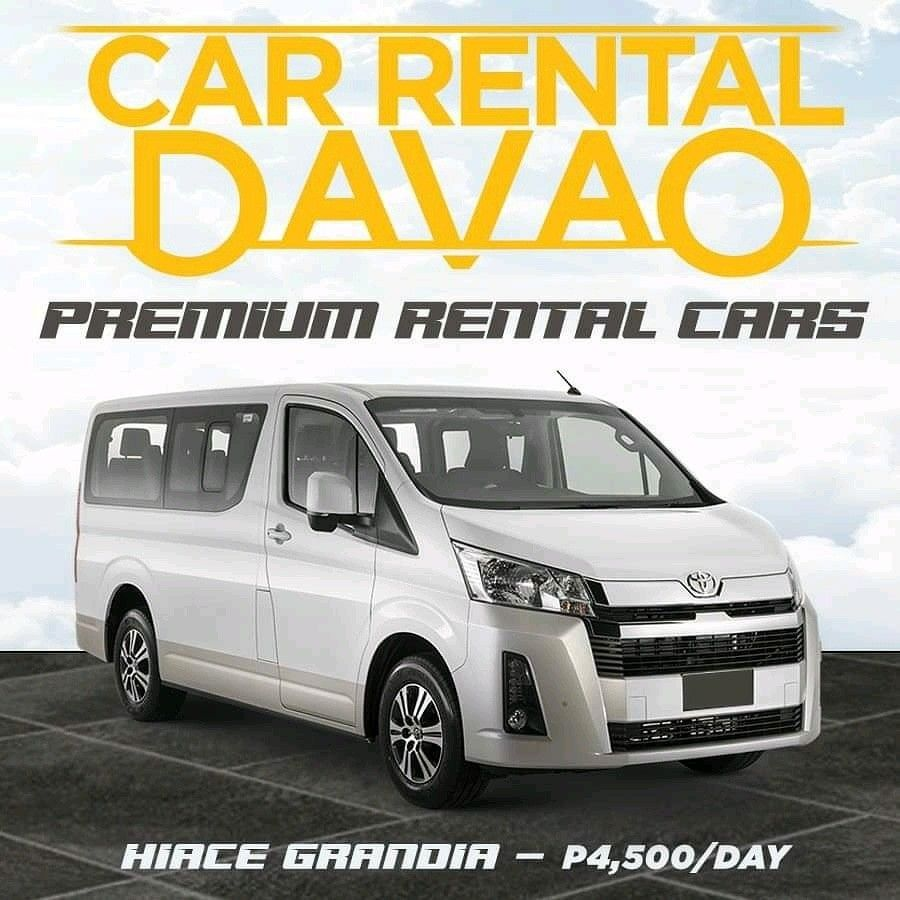 Rent HiAce Grandia in Davao Toyota hiace, Car rental