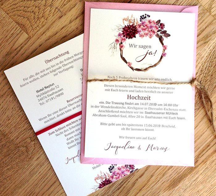 Einladung Hochzeit Text   Bildergalerie mit tollen Designs & Beispielen – Boda fotos