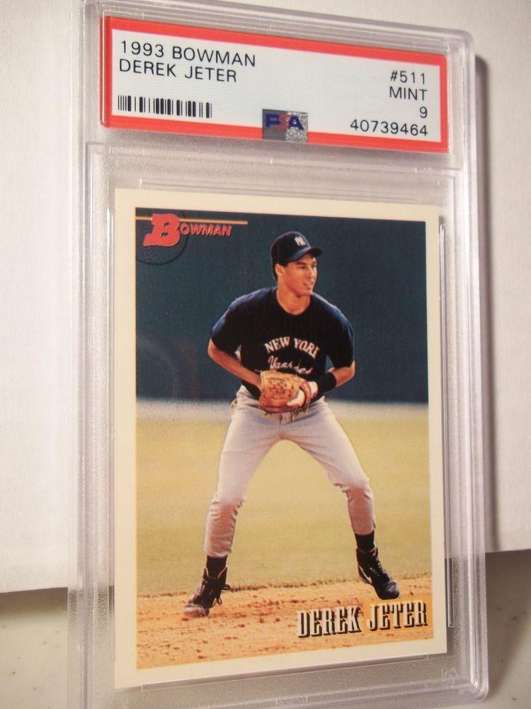 1993 bowman derek jeter rc psa mint 9 baseball rookie card
