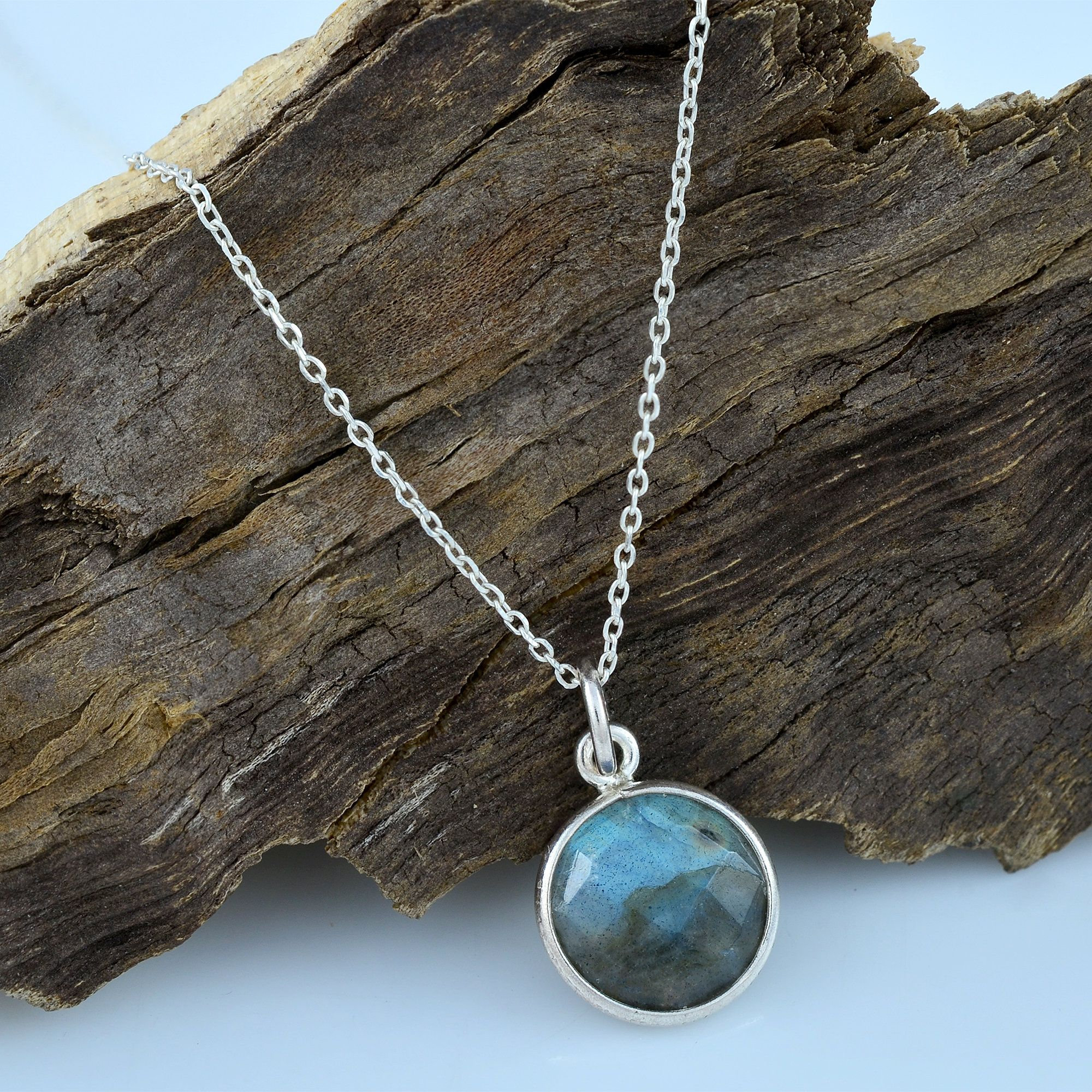 For Mother/'s Day Gift,Natural Labradorite Necklace,,Labradorite handmade Necklace,Faceted Labradorite necklace,Blue Labradorite Necklace