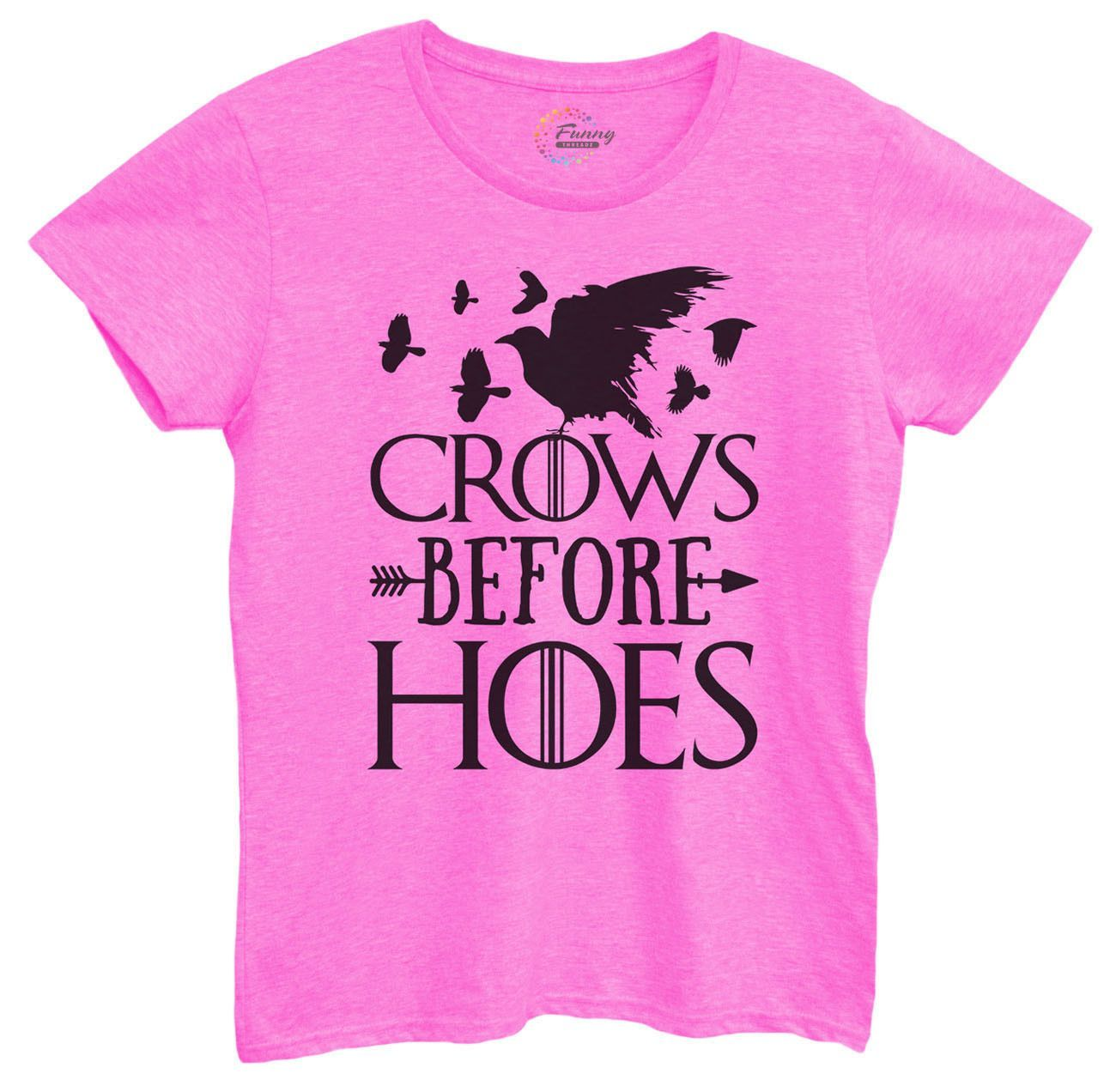 Womens Crows Before Hoes Tshirt