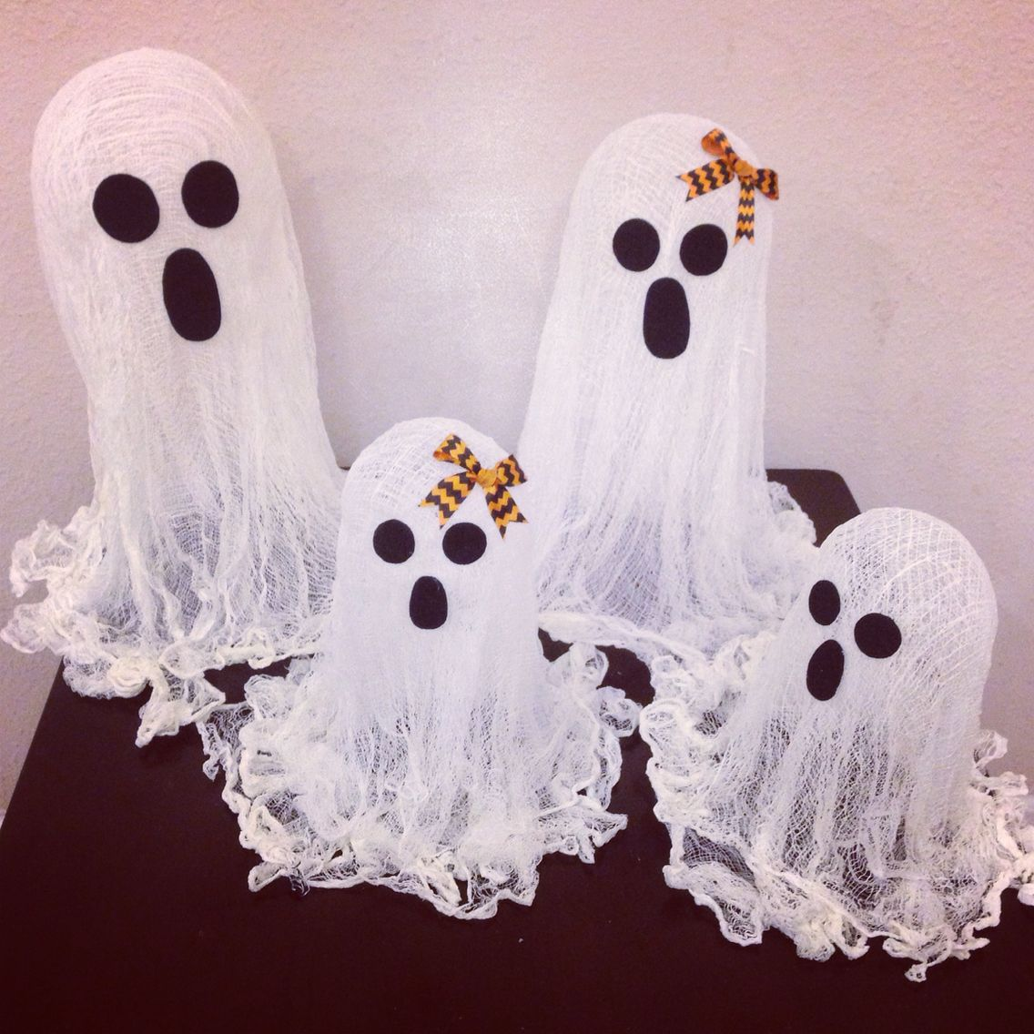 My cheesecloth ghost family!