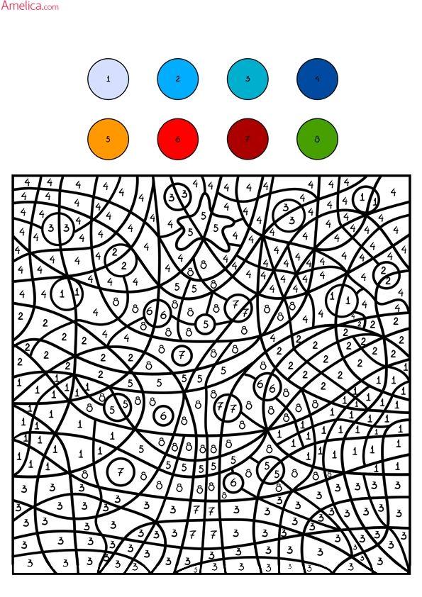 Раскраски по номерам распечатать для детей, раскраски по ...