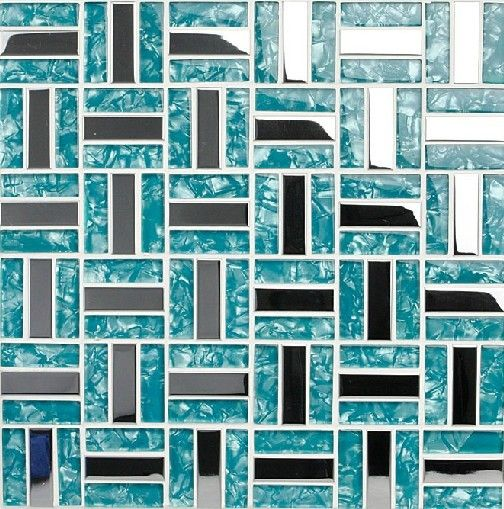 Glass mosaic tiles silver stainless steel mosaic tile backsplash SSMT079  blue glass mosaic tiles for swimming - Glass Mosaic Tiles Silver Stainless Steel Mosaic Tile Backsplash