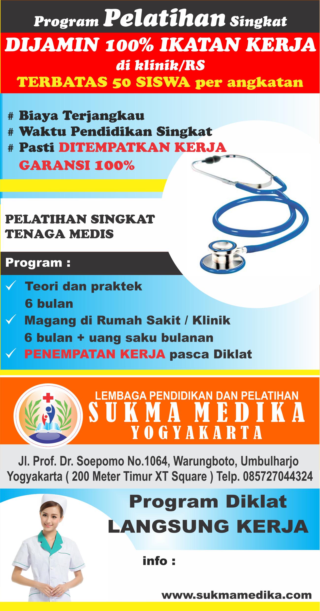 Pelatihan Diklat Tenaga Medis Dijamin Ikatan Kerja Di Klinik Rumah Sakit Dijamin 100 Kerja Garansi 100 Peluang Menjadi Ten Pendidikan Medis Latihan