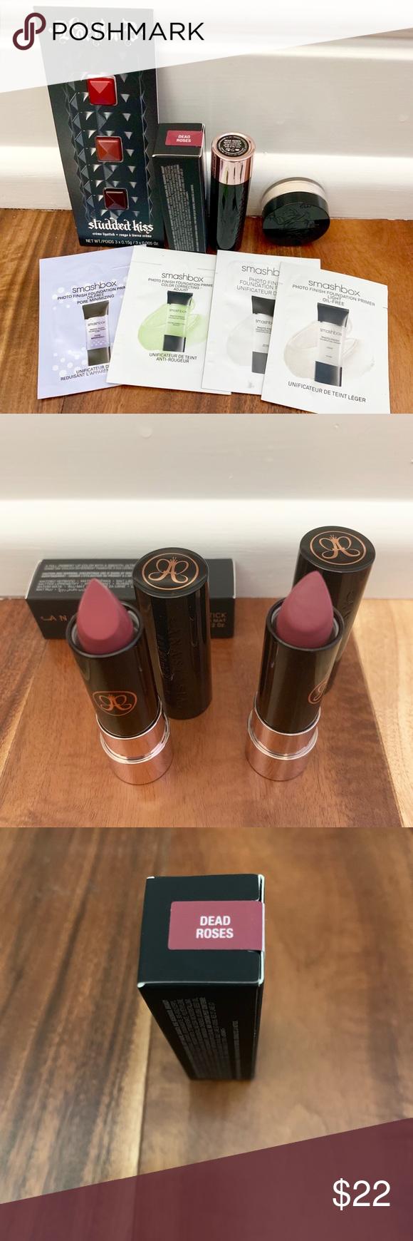 Anastasia lipsticks Selling 2 Anastasia lipsticks in the color Dead Roses. 1 is ...