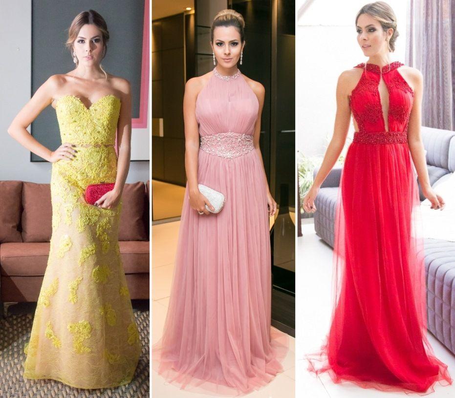 12 vestidos de festa lindos usados por Re Uchôa | Vestiditos, Madres ...