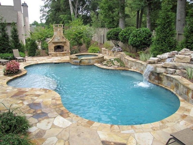 78 Cozy Swimming Pool Garden Design Ideas On A Budget Decorhit Com Inground Pool Designs Small Backyard Pools Backyard Pool Designs