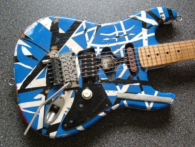 Eddie Van Halen Copy Blue Frankenstrat Eddie Van Halen Luthiery Van Halen