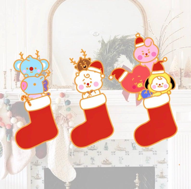 Bt21 Christmas 2020 BTS Baby BT21 Christmas Pins in 2020 | Christmas pins, Handmade
