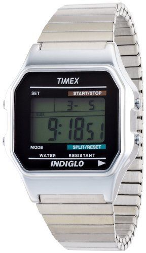 920b67982 Timex Men's T78587 Classic Digital Dress Silver-Tone Stainless Steel  Expansion Band Watch Timex. $27.08. Month, day and date display.