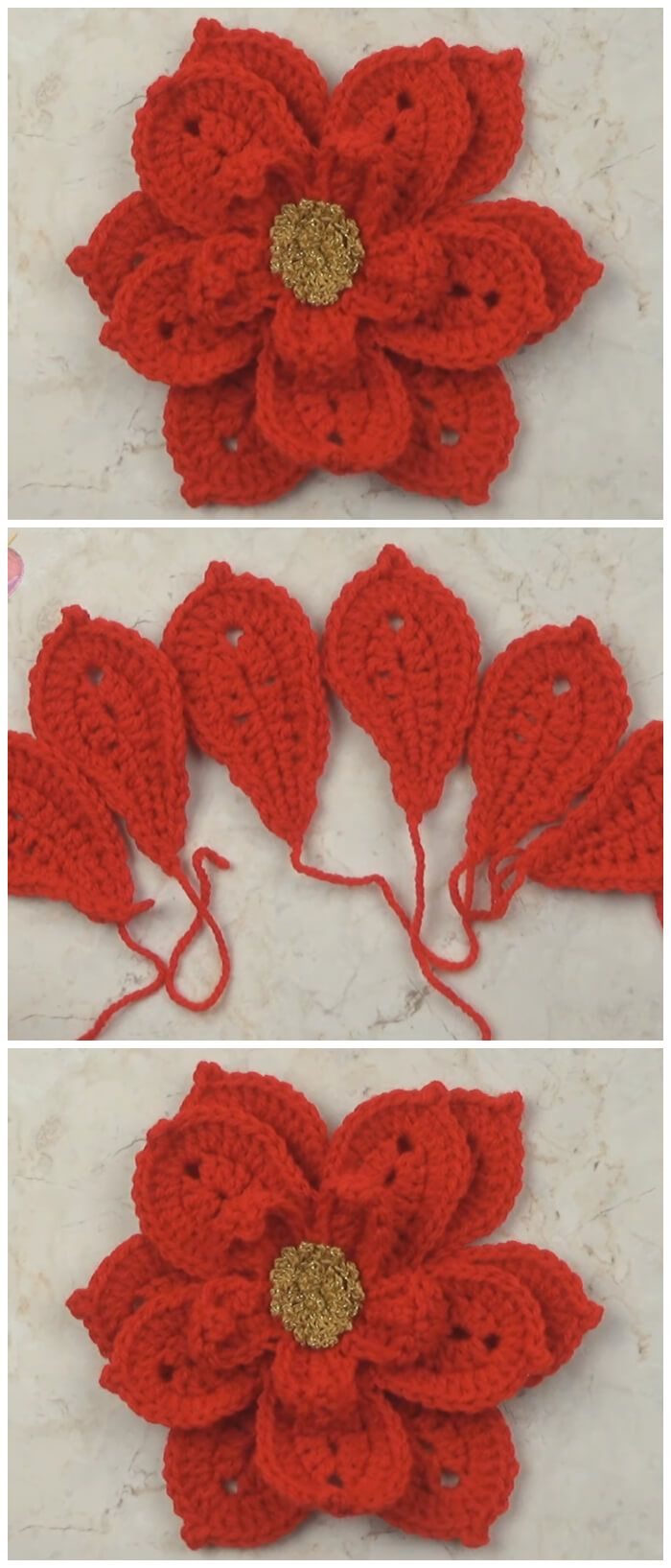 Christmas Flower - Learn to Crochet