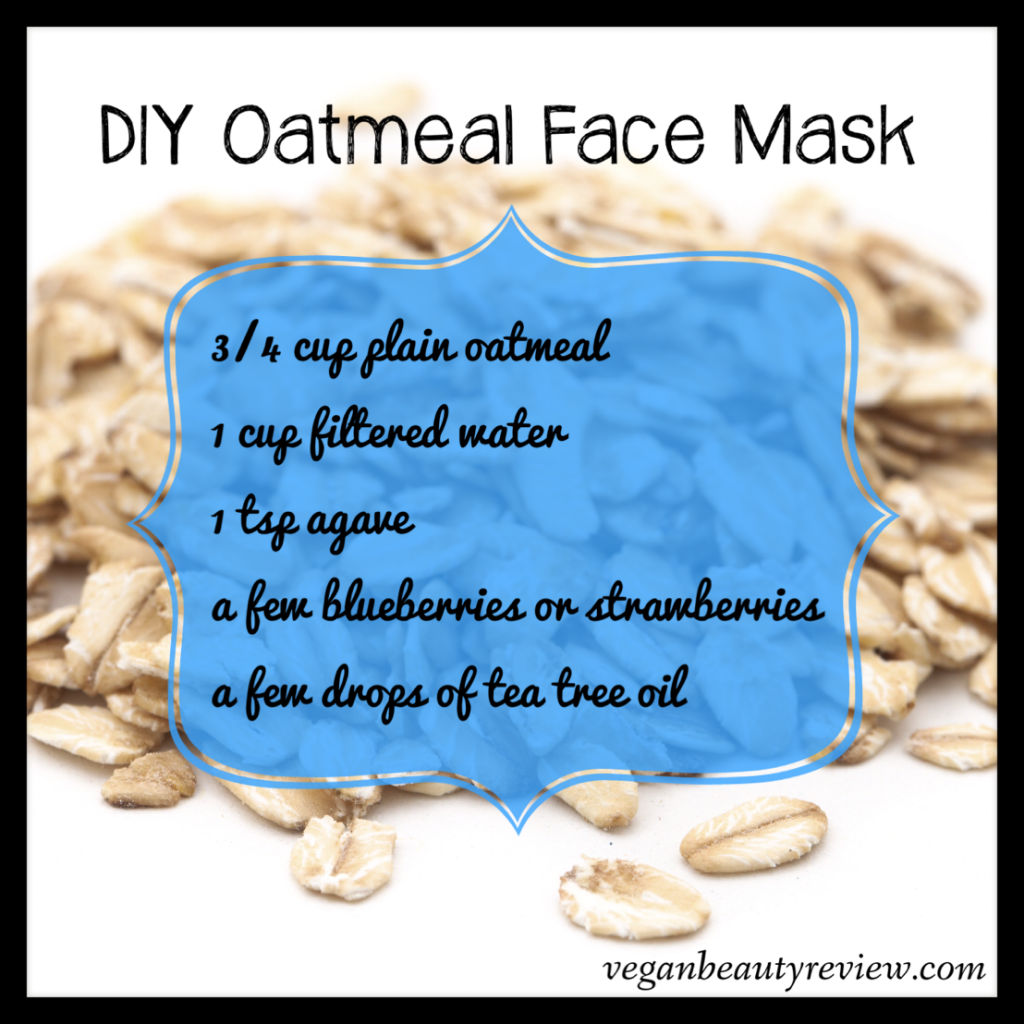Diy Oatmeal Face Mask Great For Oily And Acne Prone Skin Via Vegan Beauty Review Vegan Crueltyfree Diy Oatmeal Face Mask Vegan Face Mask Vegan Beauty Diy