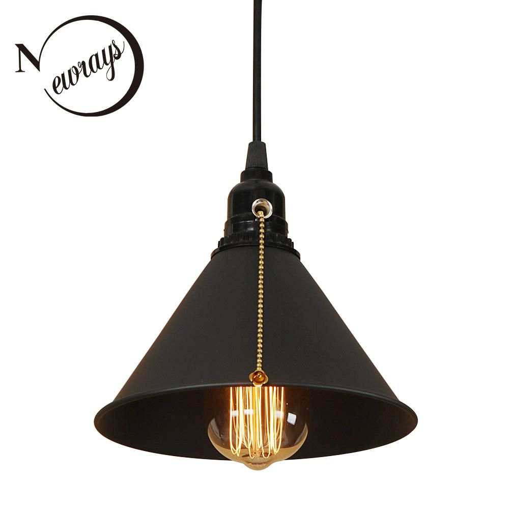 Modern Iron Painted Nordic Style Pull Chain Switch Hanging Lamp E27 Led 220v Pendant Light Fixture Kitchen Living Room Study Bar Pull Chain Light Fixture Pendant Light Fixtures Kitchen Pendant Light