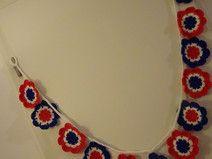 Girlande Wimpelkette USA Frankreich blau weiß rot