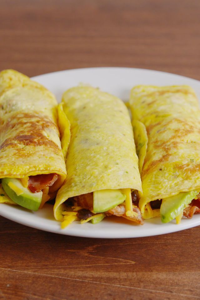 Low-Carb Breakfast Burritos-use coconut oil instead of butter and feta instead of cheddar