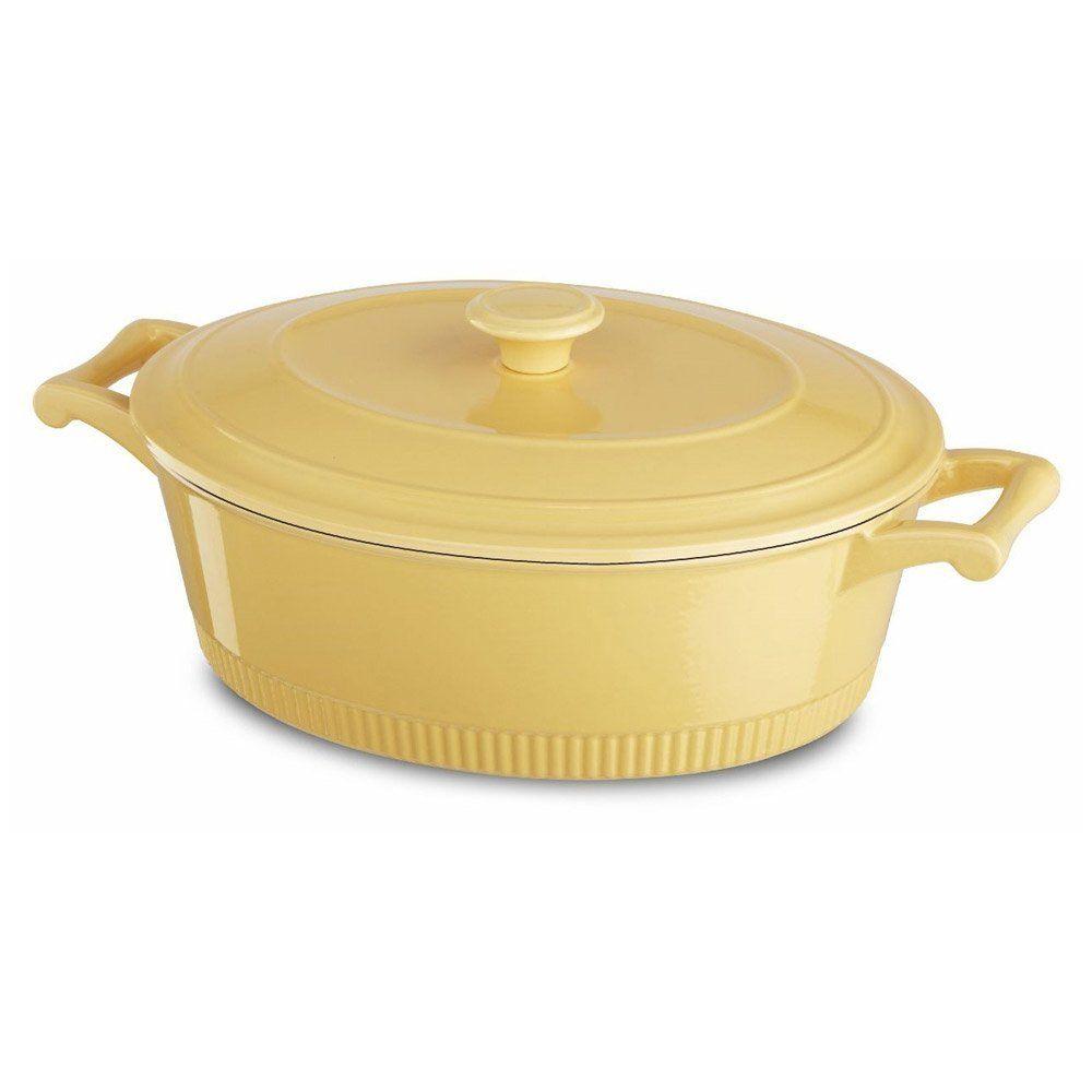 Kitchenaid kcti60crmy traditional cast iron casserole