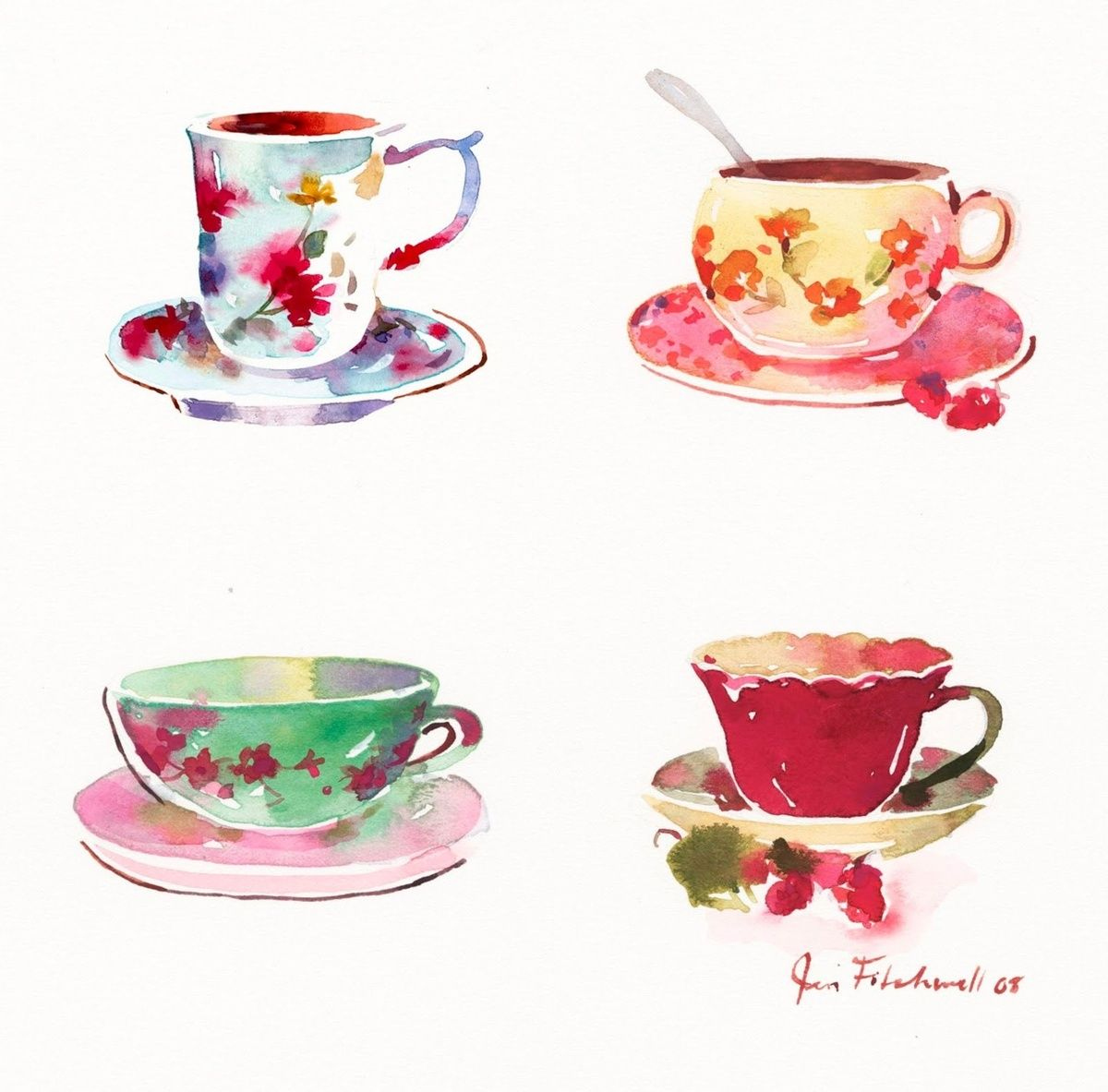 Images For > Teacup Tumblr | Tea art, Watercolor teacup ...