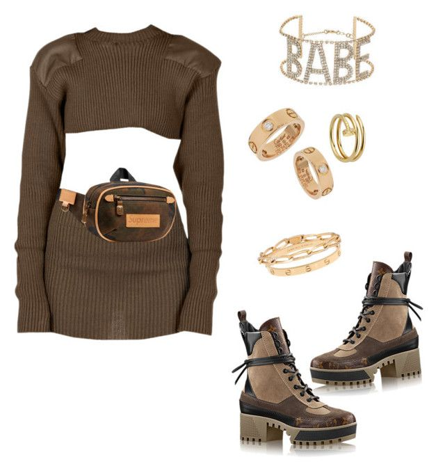 """""""Untitled #213"""" by cryamilet19 on Polyvore featuring Louis Vuitton, Topshop and Cartier"""