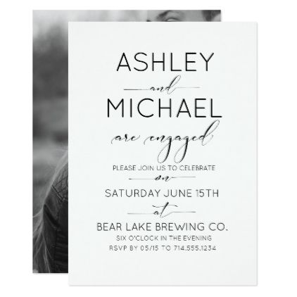 Calligraphy Typography Engagement Party Invitation Engagement - engagement party invites templates