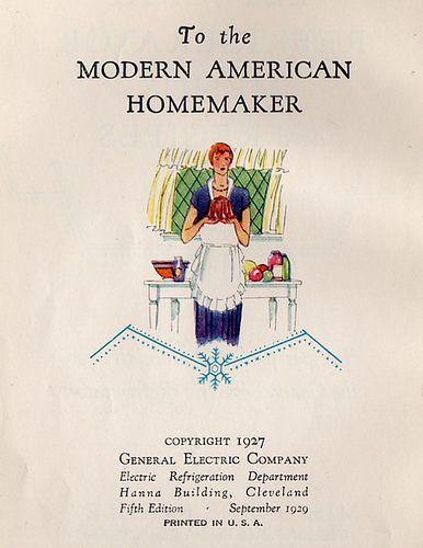 To the Modern American Homemaker homemaking housewife housework