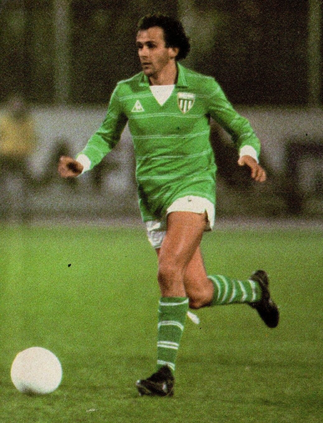 Michel Platini of St Etienne in 1978 1970s Football