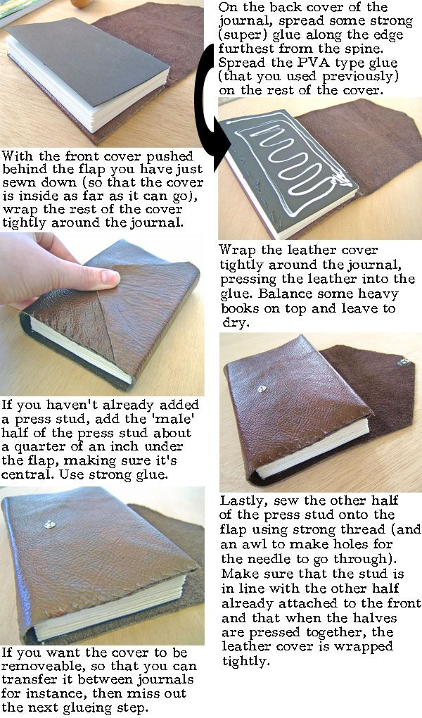 Step by step instructions to leather bind a book or journal