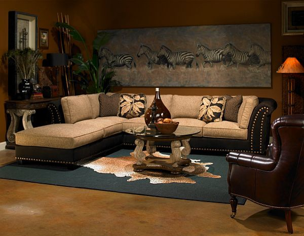 Safari living rooms on pinterest safari home decor african living rooms and cheetah living rooms - Western decor ideas for living roommake a theme ...