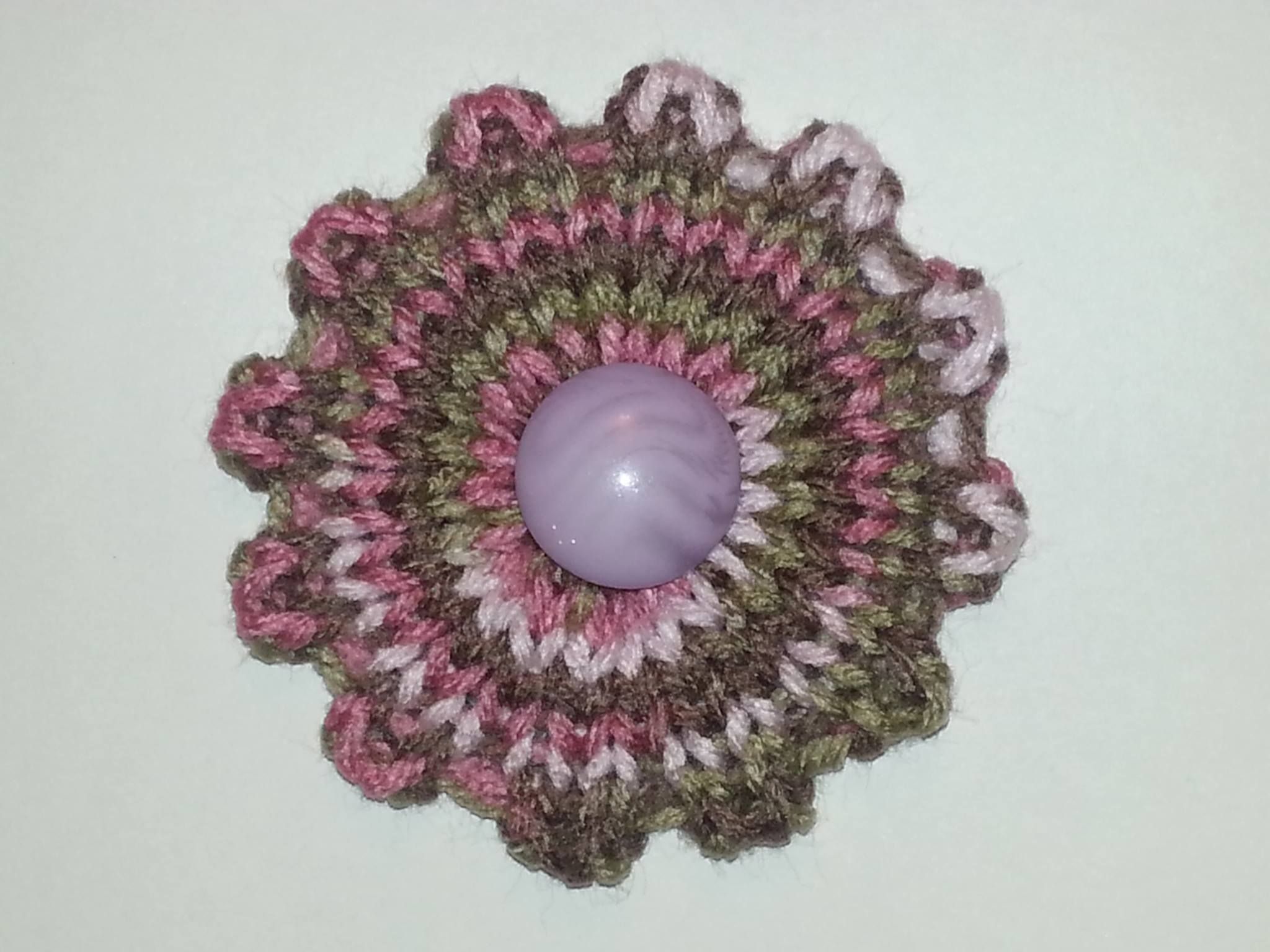 Quick Knit Flower | Knit flowers, Knit patterns and Loom knitting