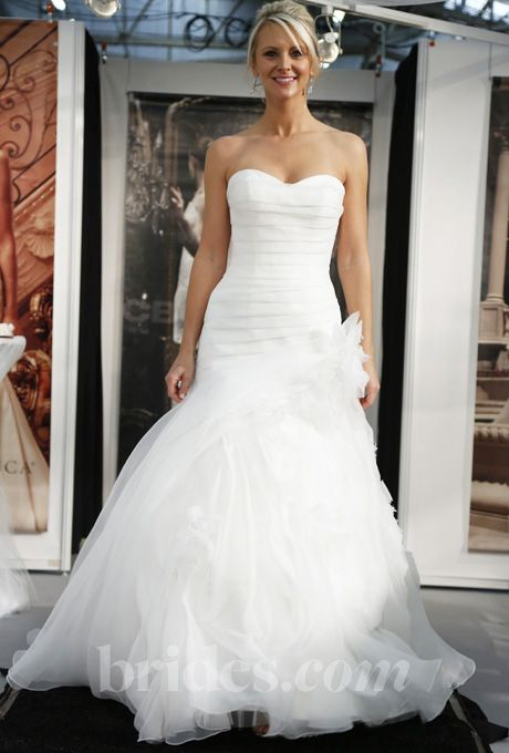 Casablanca Spring 2017 Style 2105 Strapless Organza And Satin Trumpet Wedding Dress With A Sweetheart Neckline Dropped Waist
