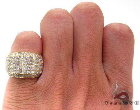 3aa9fc96ac685 Mens Diamond Pinky Ring 21506 Mens Joe Rodeo Ring Yellow Gold 14k ...