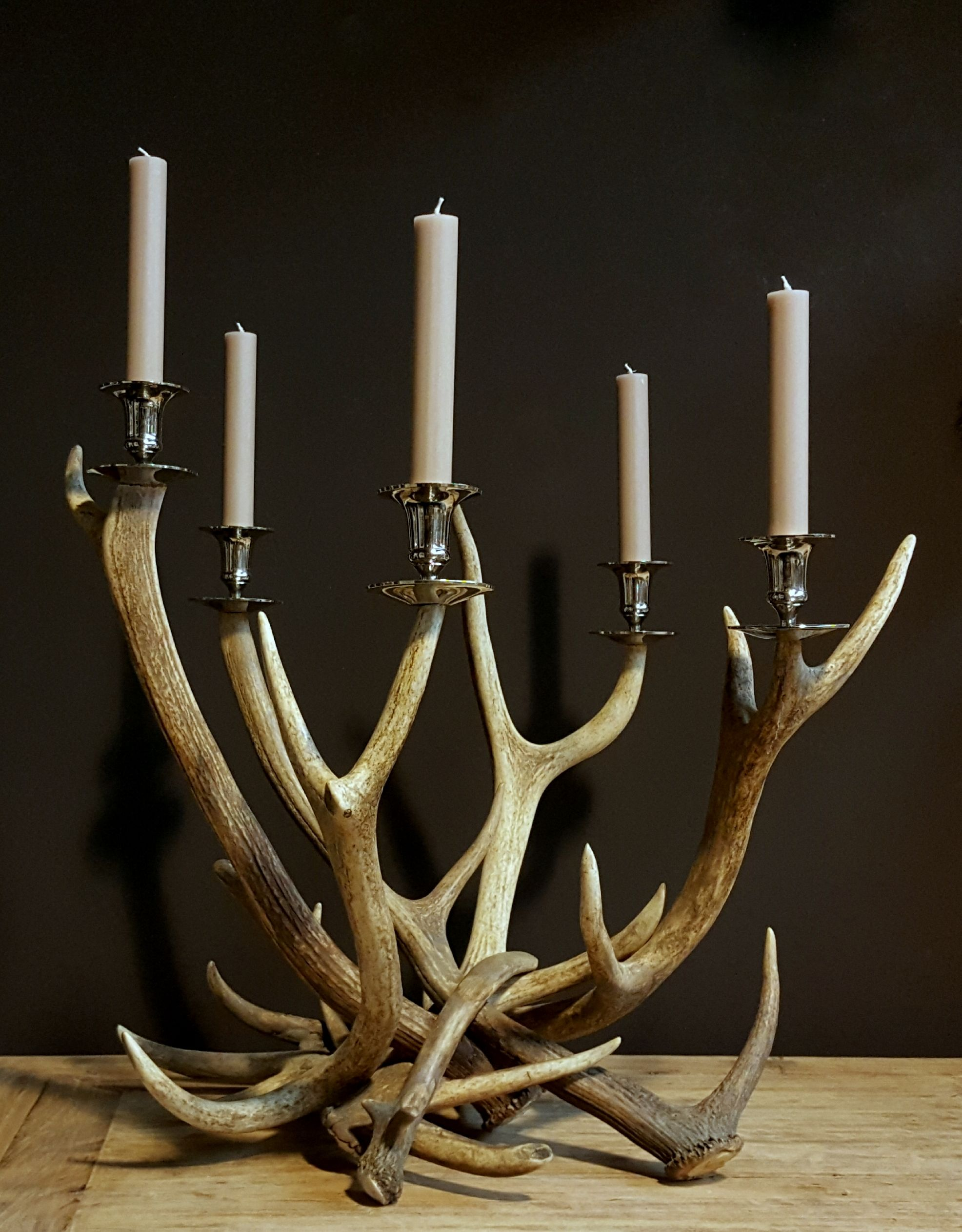 Antler Candle Holder Made Of Deer Antlers Antler Decoration Country Style Antler Lamps And Furnitures Antler Home Antlers Decor Antler Candle Antler Lamp