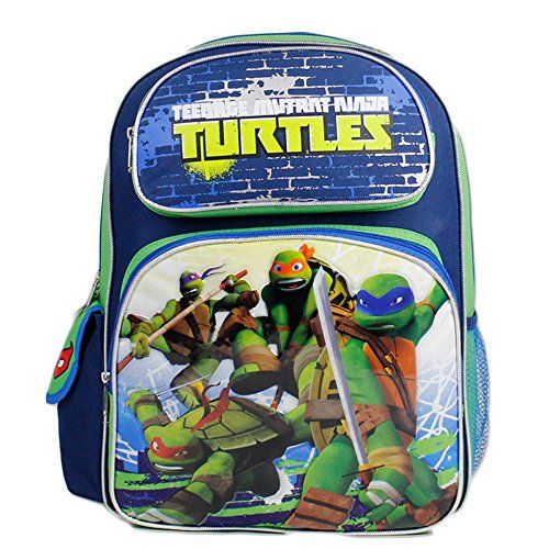 Full Size Blue and Green Teenage Mutant Ninja in Battle Turtles Backpack *** More info could be found at the image url.
