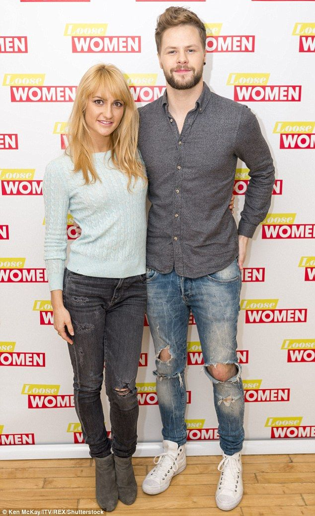 Jay McGuiness and Aliona Vilani spotted leaving Glasgow