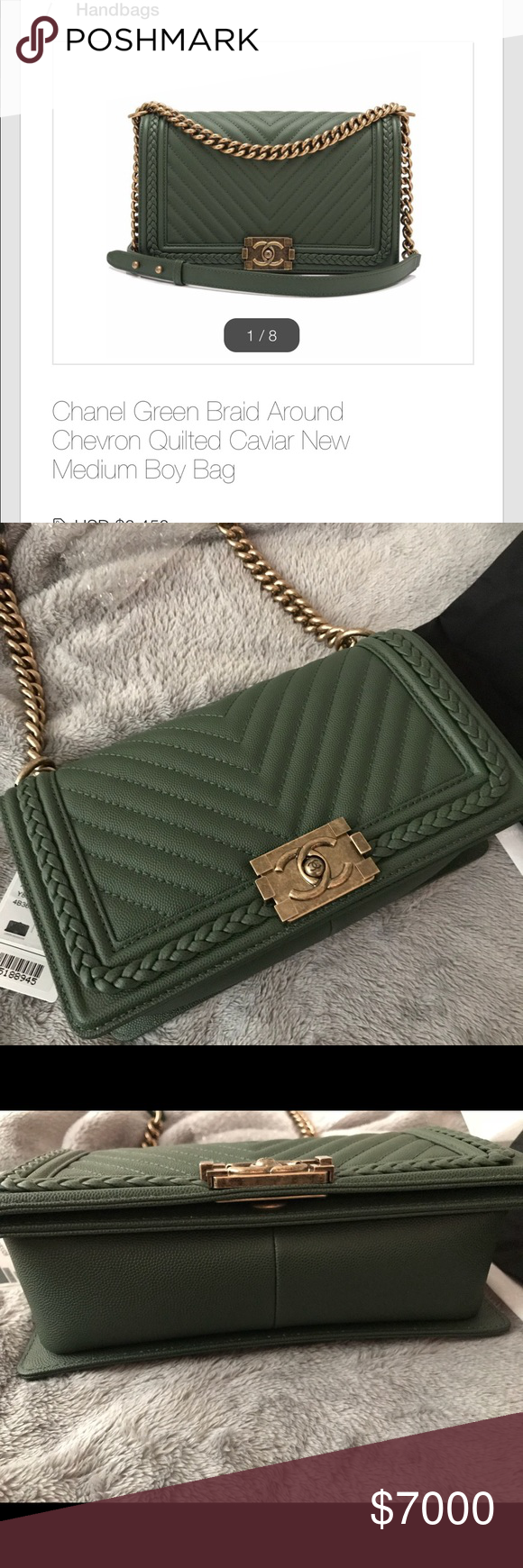 33bcf2d8095a Chanel boy bag chevron chanel boy Chanel bag come with box dust bag and  card. Limited edition nag hard to get this color and the combination of the  braided ...