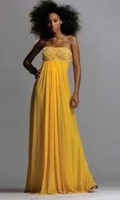 vestido amarillo de noche - Buscar con Google